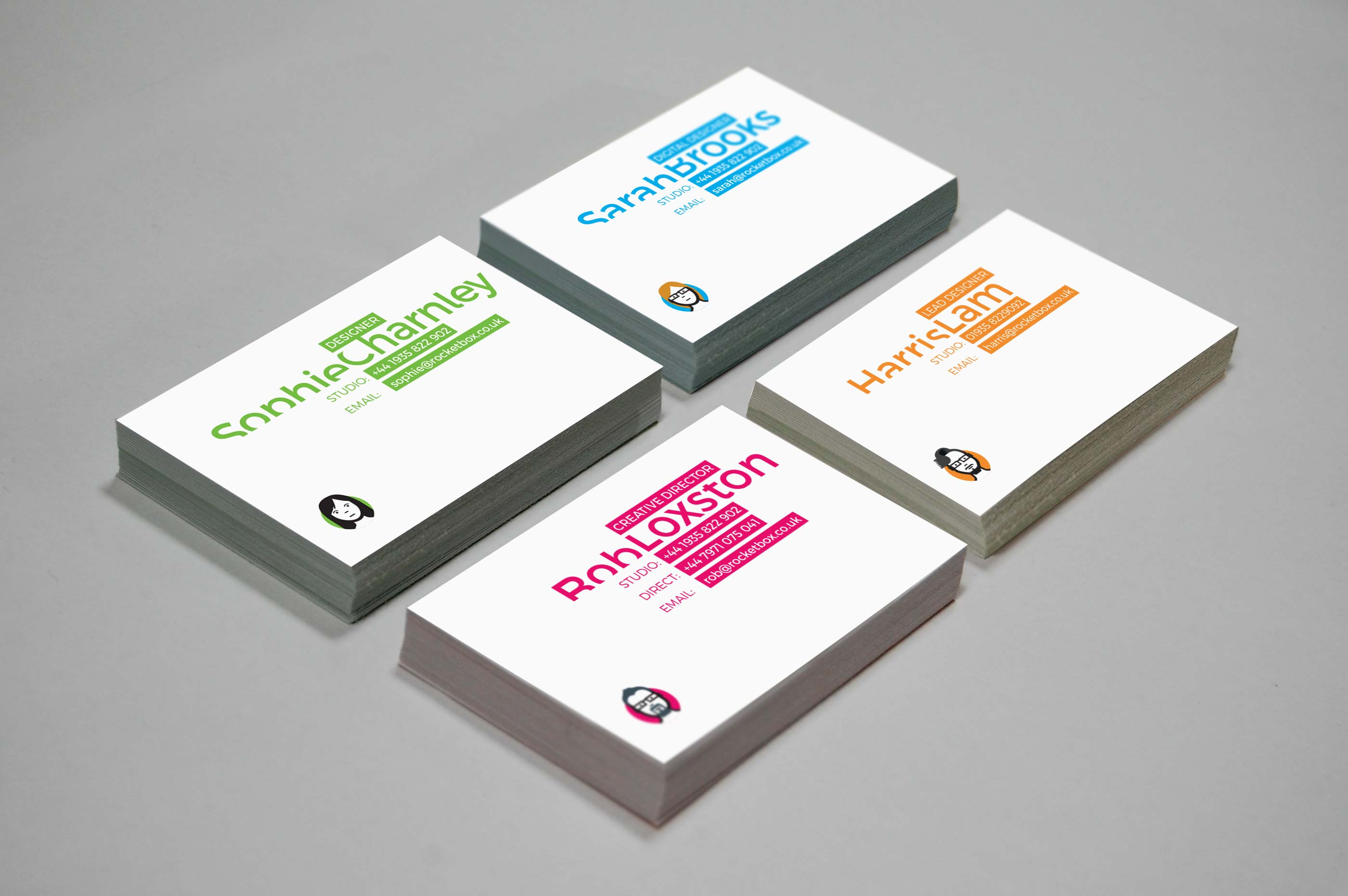 We\'ve got NEW, BRIGHT business cards – Rocketbox Design